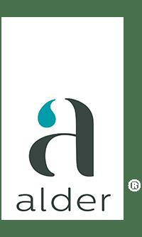 Logo alder blanco
